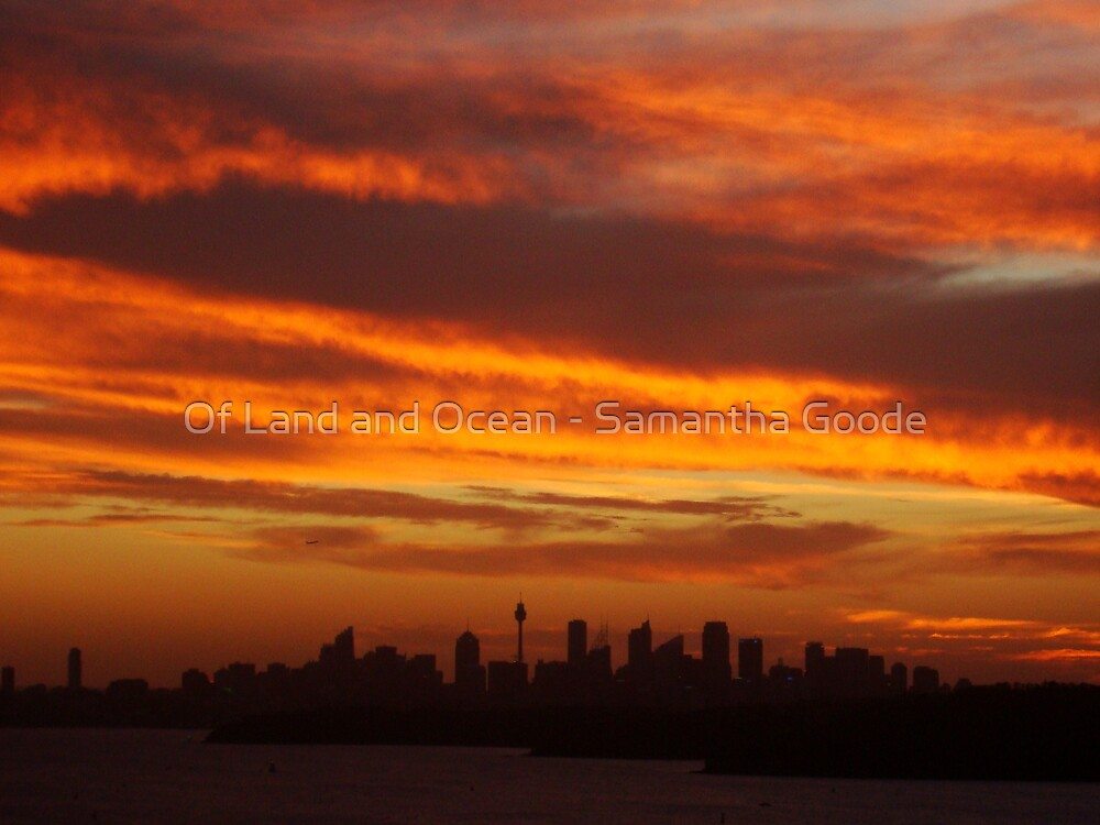 Sunset over Sydney, NSW, Australia  by Of Land & Ocean - Samantha Goode