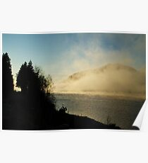 Caledonian Canal in Mist Poster