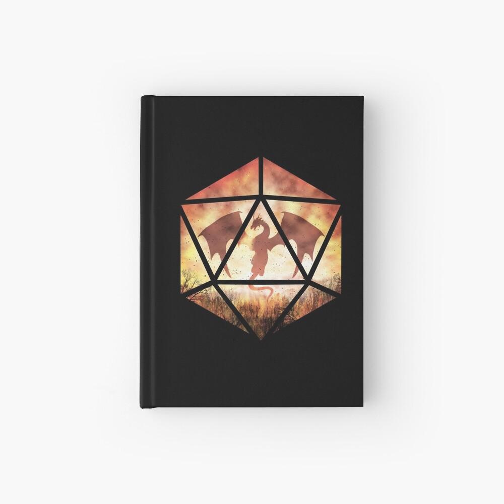 Fire Dragon D20 Hardcover Journal