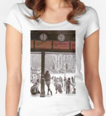Under the Clocks Fitted Scoop T-Shirt