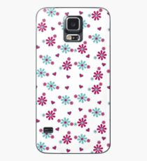 Purple and blue flowers seamless Case/Skin for Samsung Galaxy