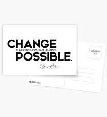 change is possible - barack obama Postcards