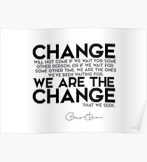 Wir sind die Veränderung - Barack Obama Poster