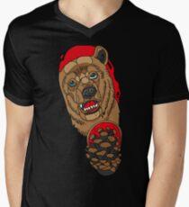 Neo Traditional Bear Men's V-Neck T-Shirt