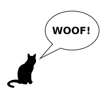 WOOF! FUNNY CAT GIFT by nathio