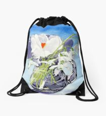 Flowers for Mary Drawstring Bag