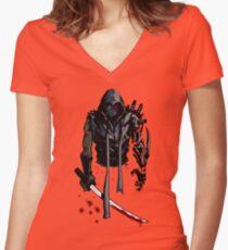 Cyborg Ninja Camiseta entallada de cuello en V
