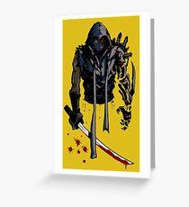 Cyborg Ninja Tarjeta de felicitación