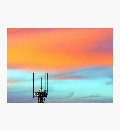 The Antenna in the evening sky Photographic Print