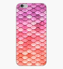 Rose Gold Blush Sparkle Faux Glitter Mermaid Scales iPhone Case