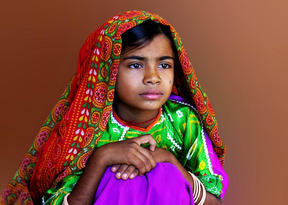 AHIR GIRL - INDIA by Michael Sheridan
