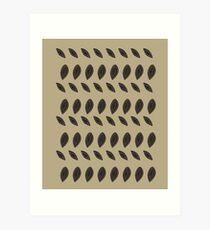 DESIGN Beans black beige Art Print