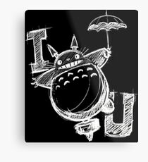 I Love Totoro and I love you too Lienzo metálico