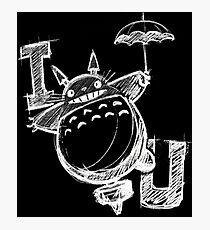 I Love Totoro and I love you too Lámina fotográfica