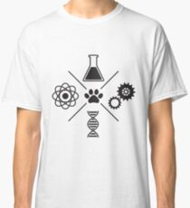 Sciencefurs - Black on White Classic T-Shirt