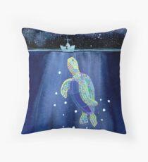 Papierschiffchen - Schildkrötenfunkeln Kissen