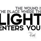 light enters you - rumi by razvandrc