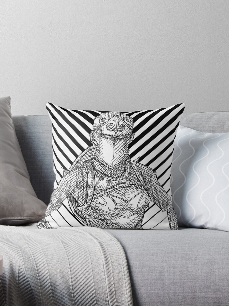 Quot Fortnite Red Knight Black And White Quot Throw Pillows By
