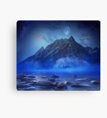 Blue Mist Rising Canvas Print
