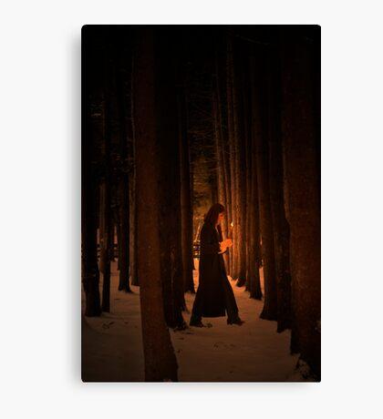 Wood Deep Woman  Canvas Print