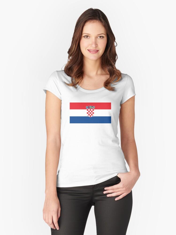 f0f64c4b392 Croatia Hrvatska Football World Cup 2018   National Flag • ID-A1 Fitted  Scoop T