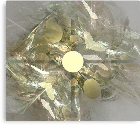 Gold Heart Sphere by KimSyOk