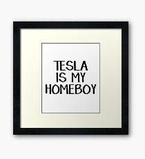 Tesla is my homeboy Framed Print