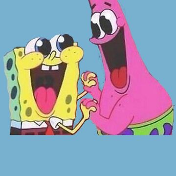 Sponge bob and Patrick happy as ever by vellond