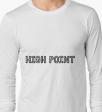 High Point University HPU Black Font Long Sleeve T-Shirt