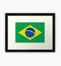 Brazil Brasil Football World Cup 2018   National Flag ID F1 V2 Big Prints Framed Print