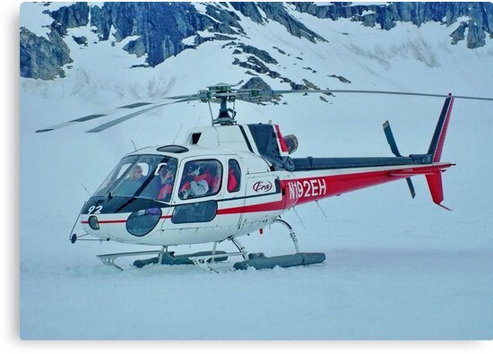 Helicopter On Top of the World  :  On the Glacier by AnnDixon