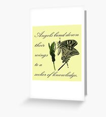 Angels Bend Down Their Wings To A Seeker Of Knowledge Greeting Card