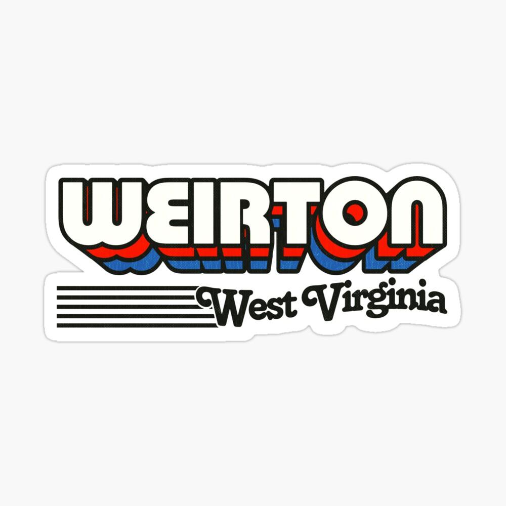 Weirton, West Virginia   Retro Stripes Sticker
