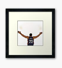 Lebron James Chalk Toss Framed Print