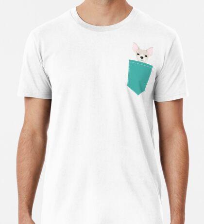 Chihuahua dog head pet art dog breed chihuahuas peeking  Premium T-Shirt