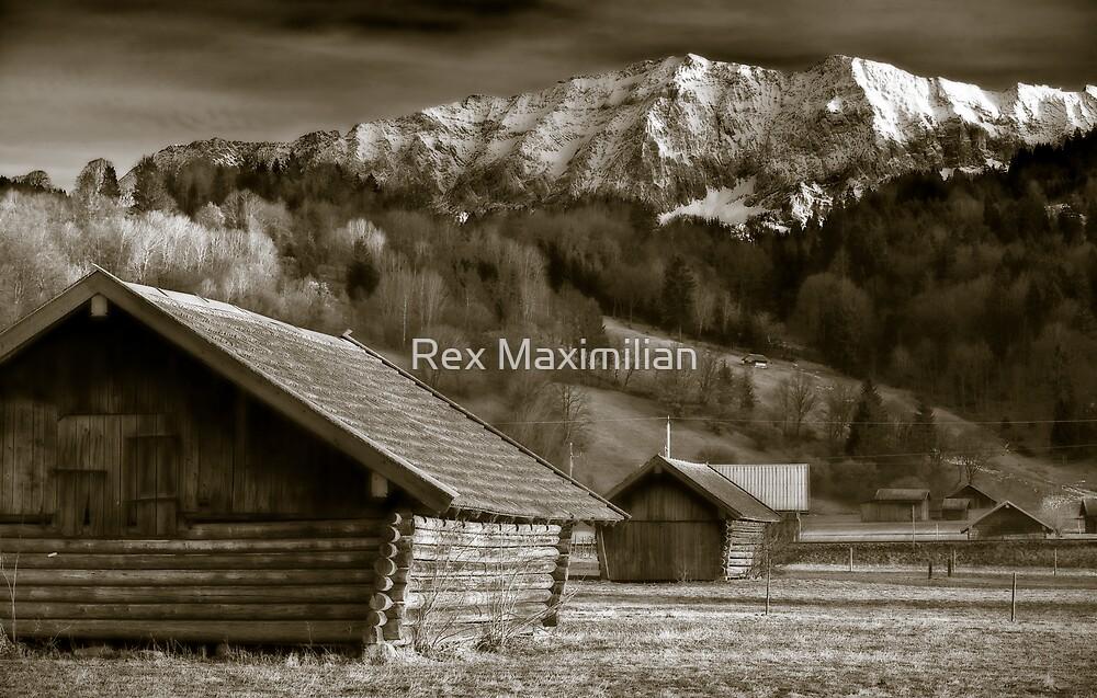 Bavarian Barns at Sunset by Rex Maximilian