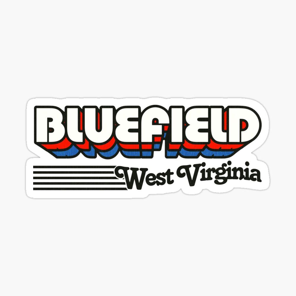 Bluefield, West Virginia   Retro Stripes Sticker