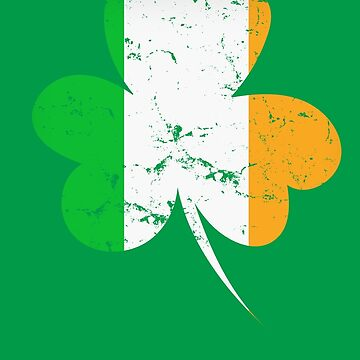 St Patricks day Irish flag distressed by playloud