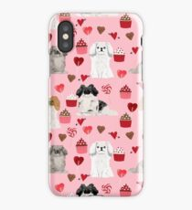 Pekingese valentines day dog breed cupcakes love hearts pet pattern gifts iPhone Case