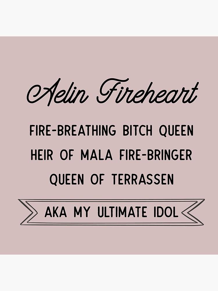 Aelin Fireheart | Reina de la perra de respiración de fuego de thebookishshop