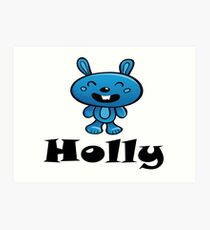 Holly Name / Inspired by The Color of Money Art Print
