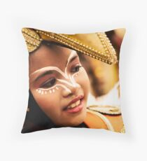 Sinulog 2009 Happy Girl Throw Pillow