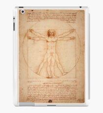 Vitruvian Man by Leonardo da Vinci 1490 iPad Case/Skin