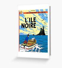Tintin L'Ile Noire / 326951 Greeting Card