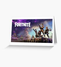 Fortnite Loading Screen with writing Greeting Card