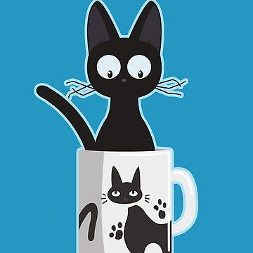 Cat In A Mug by KaisCanvas