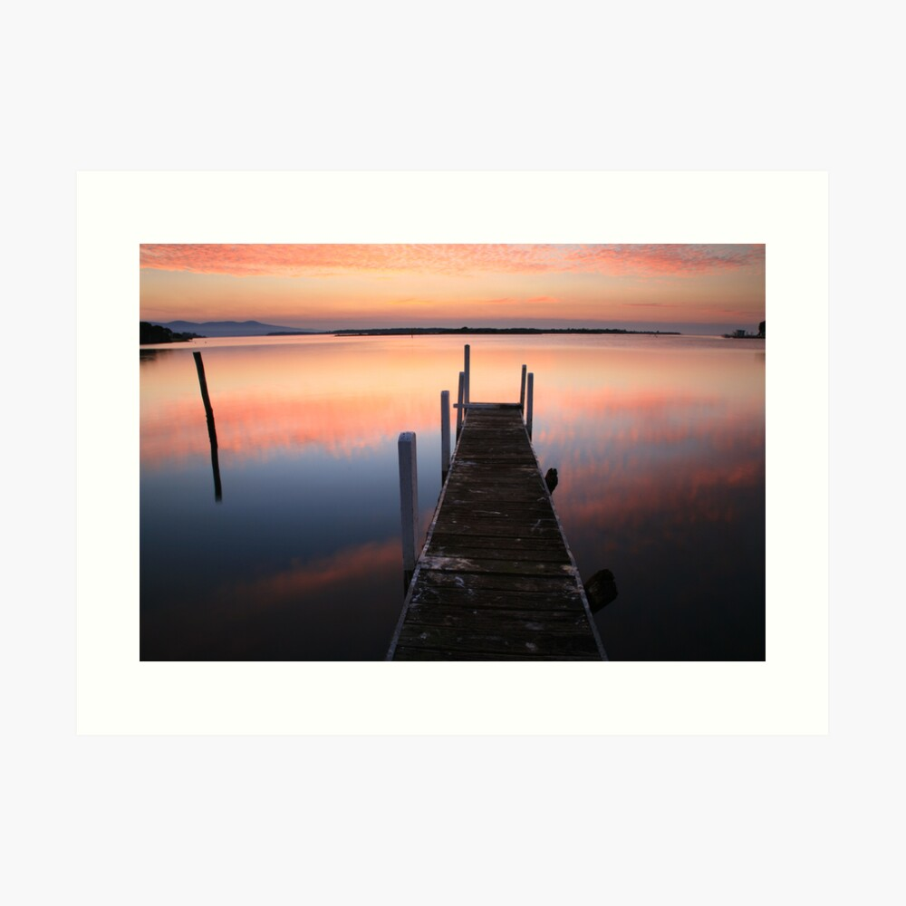 A new day dawns, Mallacoota, Australia Art Print