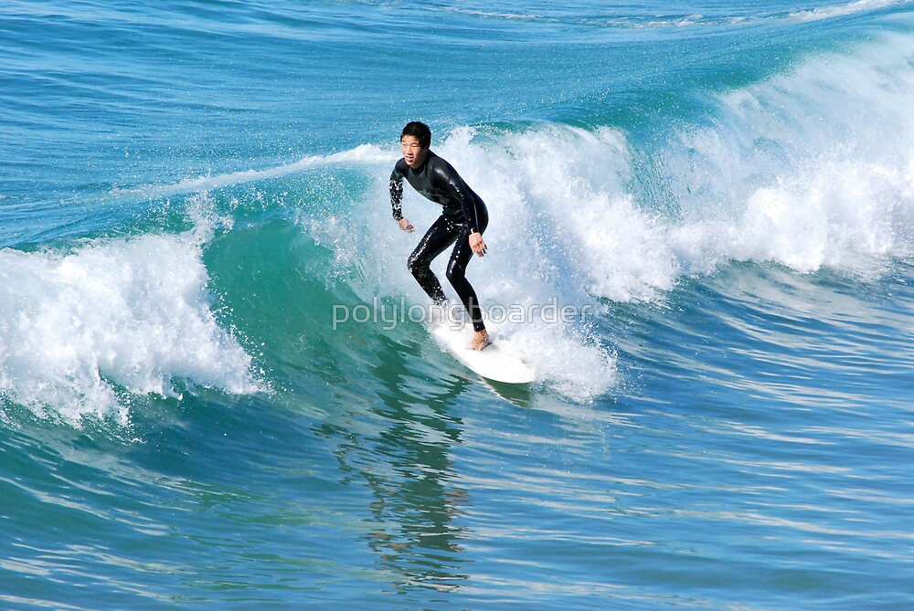 Surfer at the Pier by polylongboarder