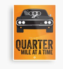 Cinema Obscura Series - The Fast & the Furious - Quarter Mile Metal Print