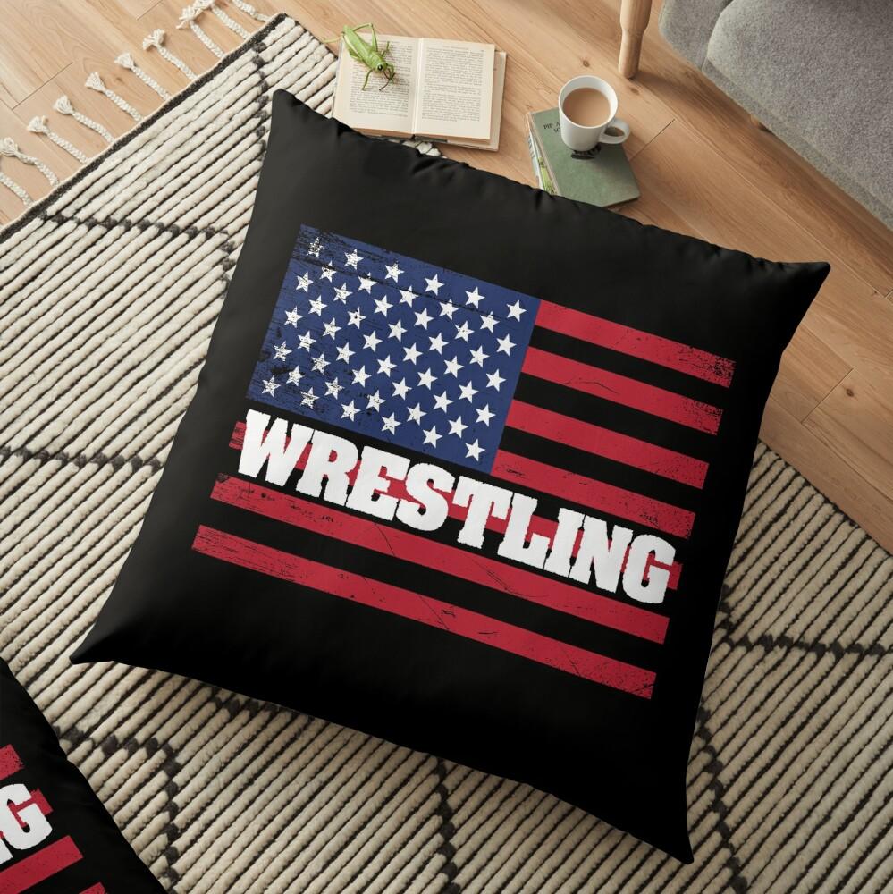 Wrestling USA Flag Design - Wrestling Bodenkissen